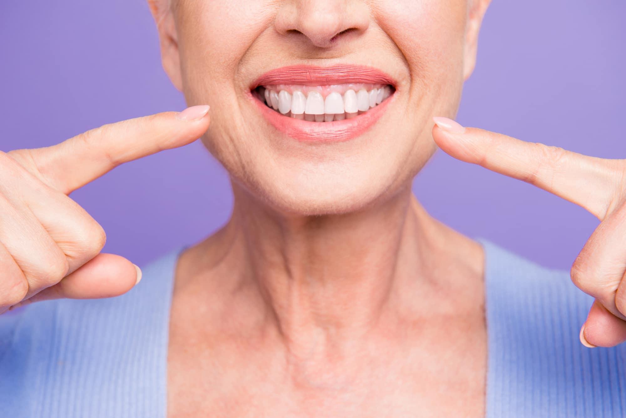 Senior woman with Medicare Advantage dental care
