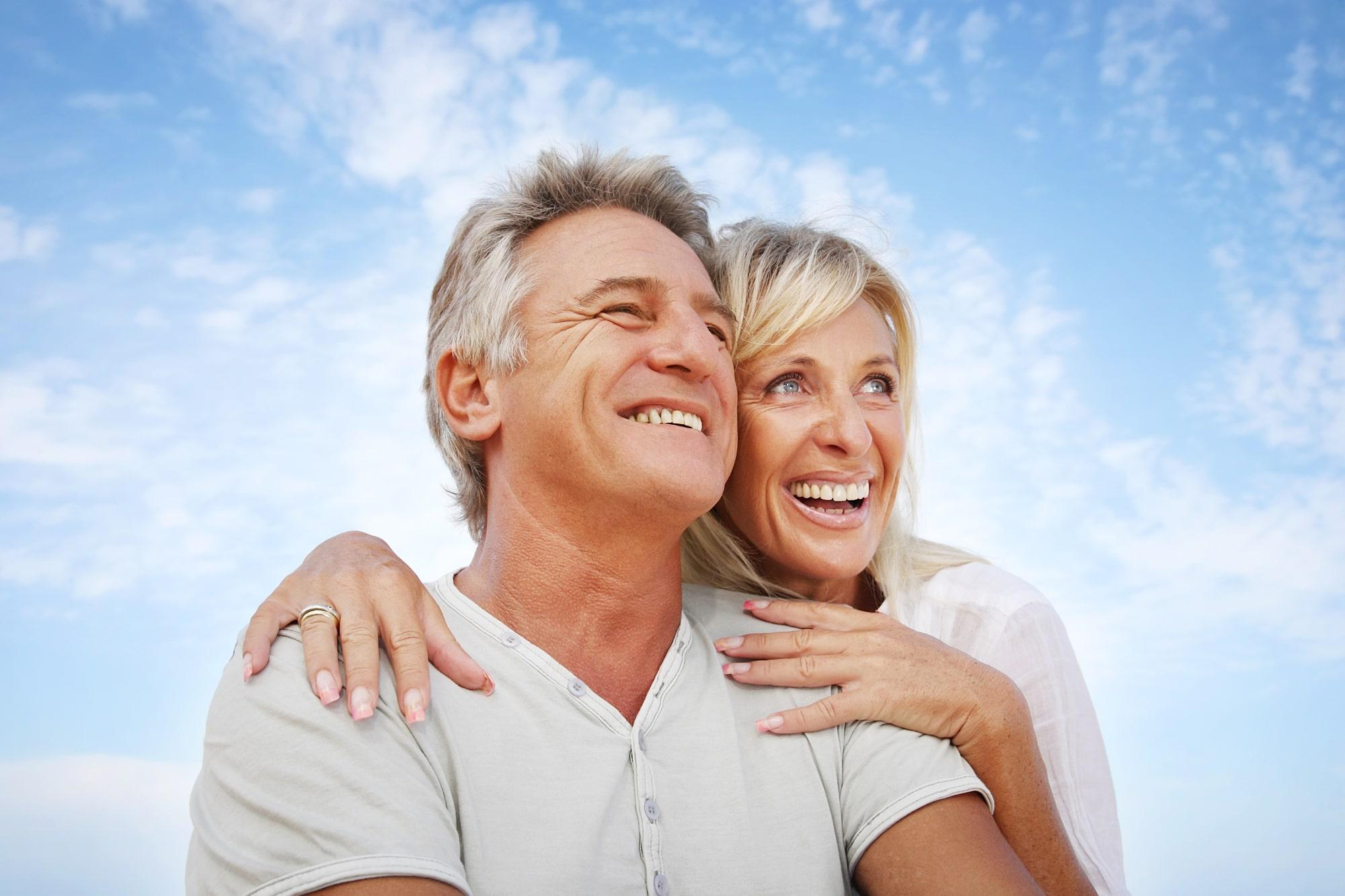 Happy retired couple choosing medicare